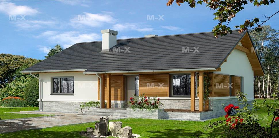 Цена на проект небольшого одноэтажного дома от Метроплекс