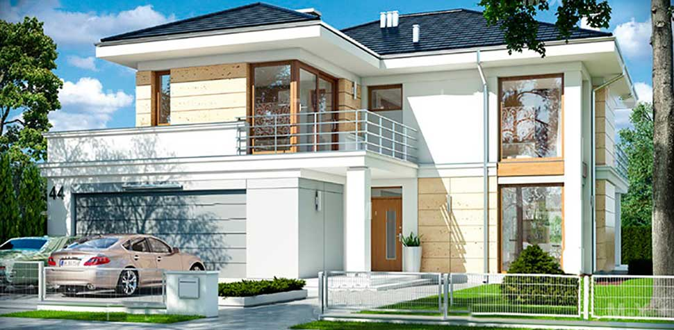 Проекты домов с террасой или верандой - в чем преимущества?