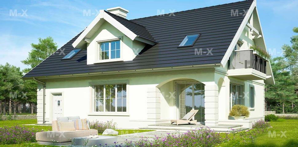 Мансардный дом с белоснежным фасадом от Метроплекс
