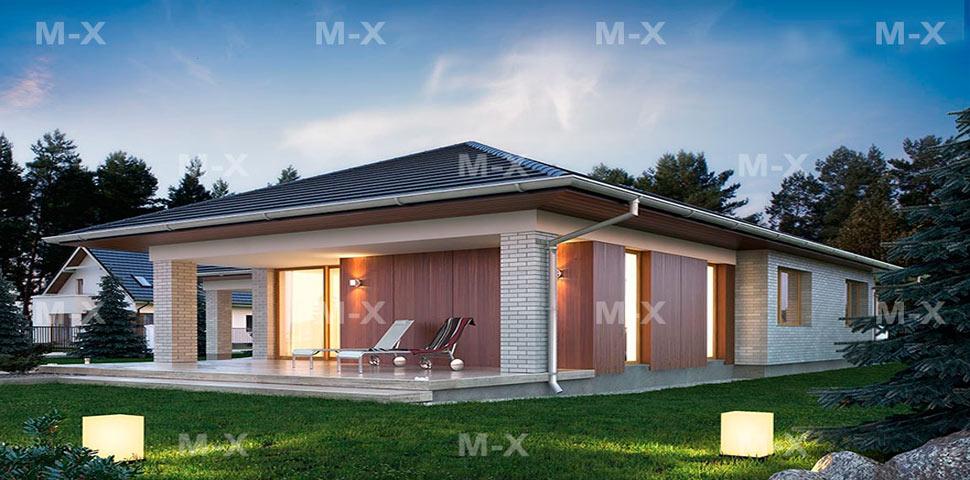 Готовый проект стильного одноэтажного дома от Метроплекс