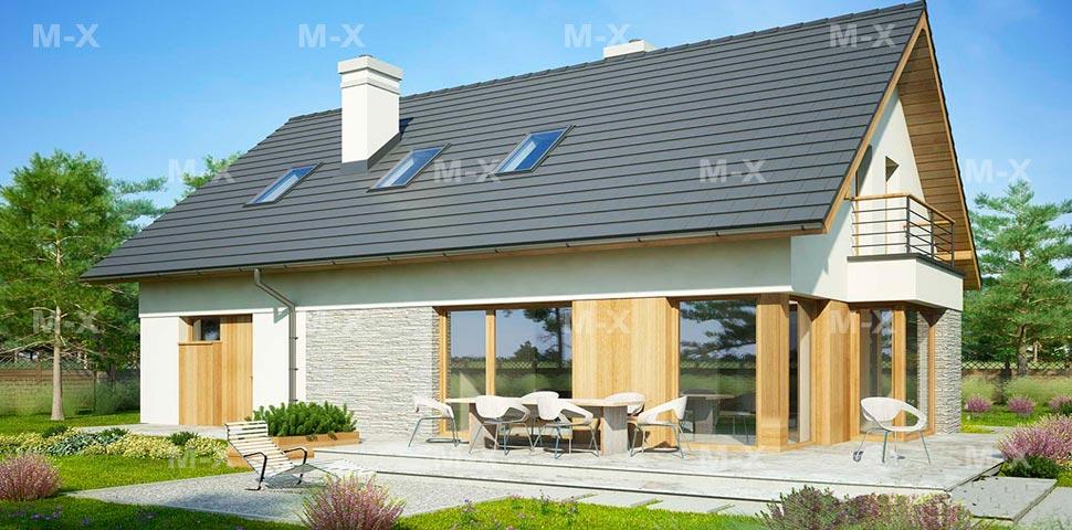 Дизайн проект дома с мансардой от Метроплекса