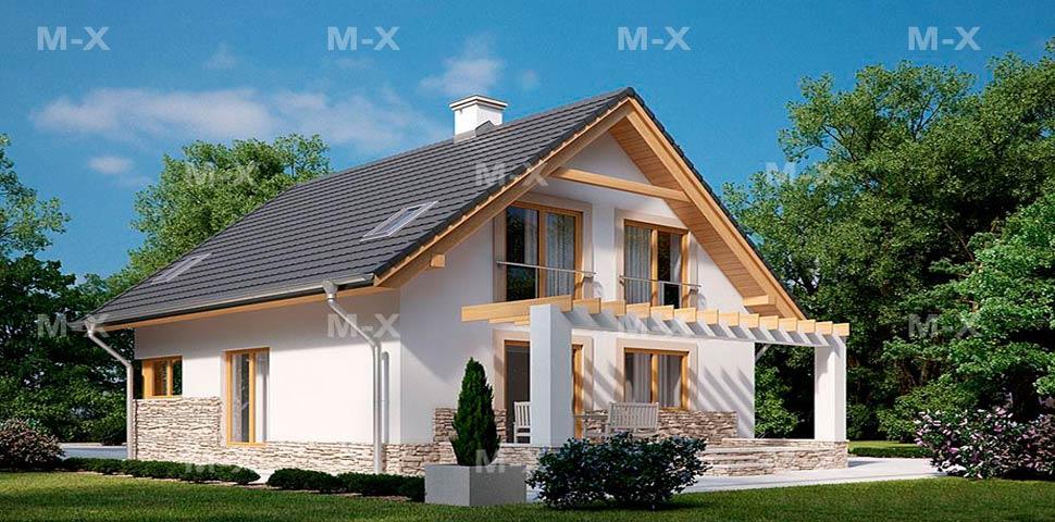 Проект небольшого дома с мансардой от Метроплекс
