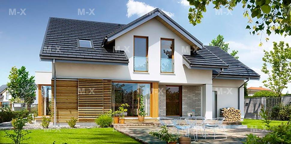 Проект дачного дома с мансардным этажом