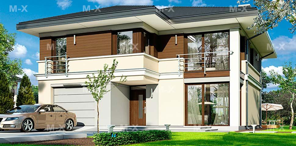 Проект современного частного дома от Метроплекса