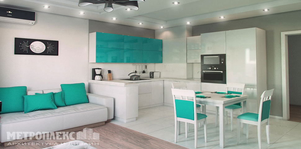 Дизайн и ремонт двухкомнатной квартиры в новострое