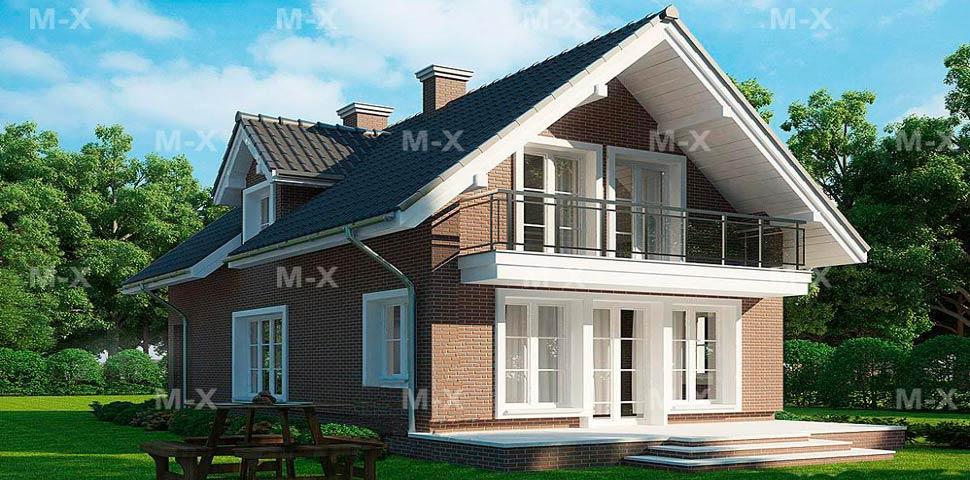 Популярный проект современного мансардного дома