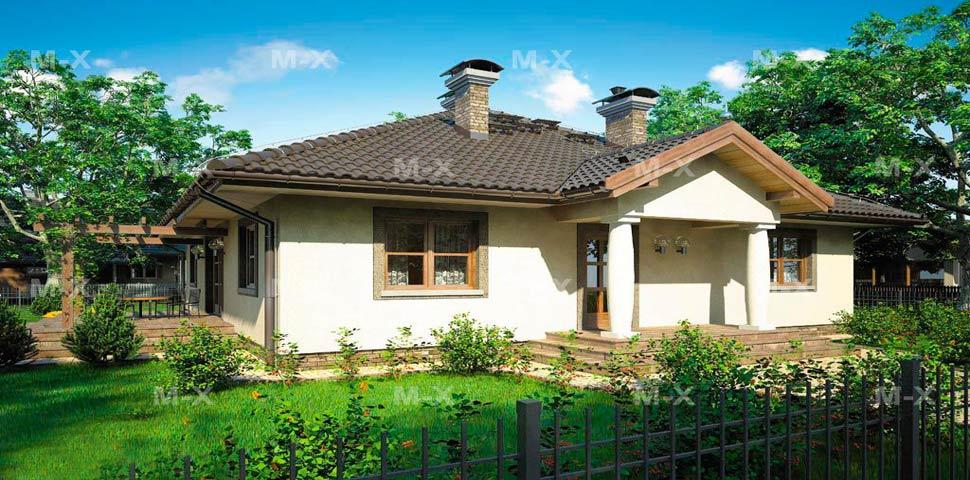 Пример проекта уютного красивого дома от компании Метроплекс
