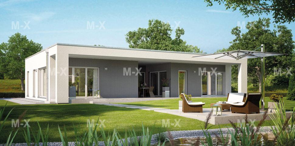 Вариант современного проекта дома от Метроплекс