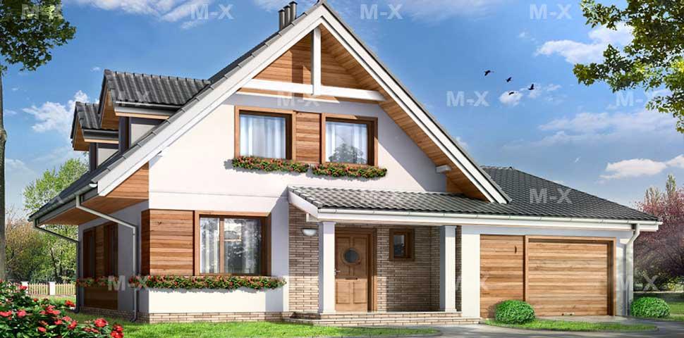 Частный дом деревянной отделкой и интерьер дизайном от Метроплекс