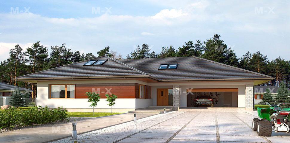 Проект дома с мансардой и с гаражом от Метроплекс