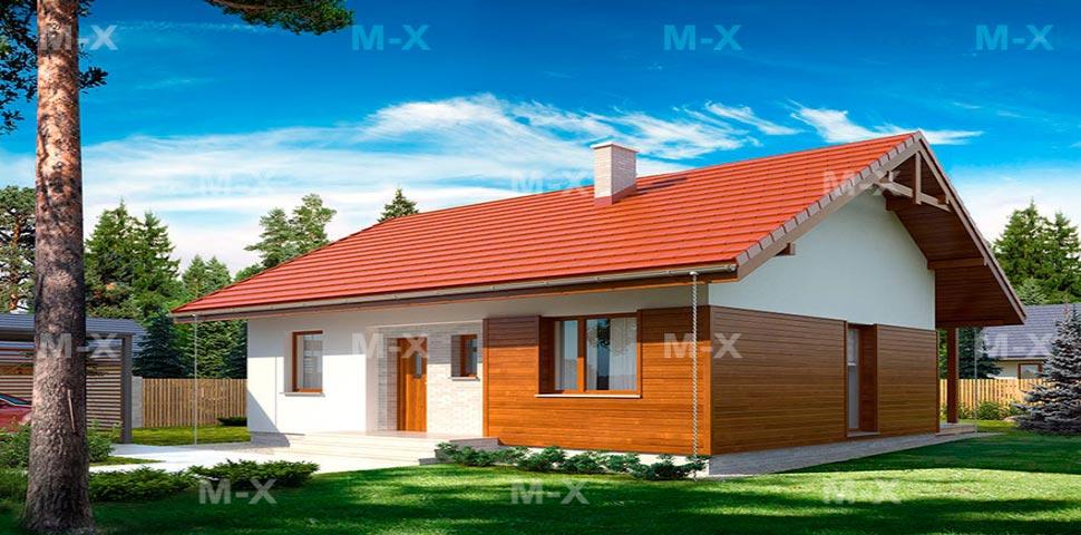 Проект одноэтажного дома с просчётом тепловой нагрузки