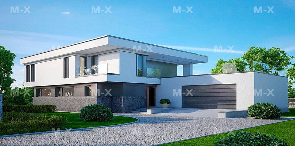 Проект современного двухэтажного коттеджа с просчётом тепловых нагрузок