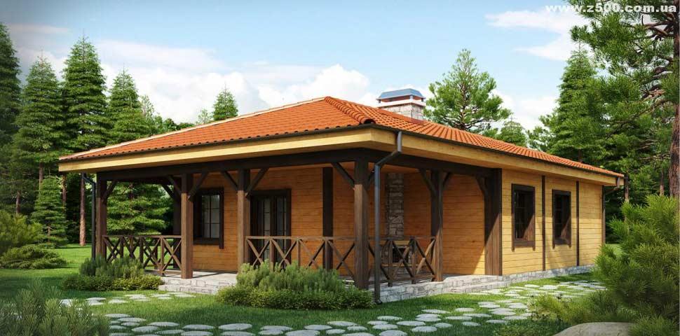 Проект уютного дачного дома с крытой террасой от Метроплекс