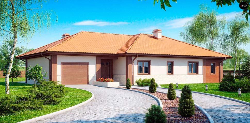 Готовый польский проект одноэтажного дома