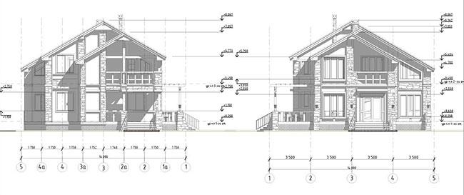 Конструктивное решение частного дома